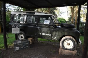 the actual Defender George was driving when he was murdered in Kora NP