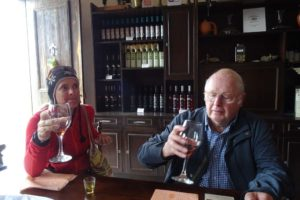 Jude and Ian doing some more wine tasting at Stilianou