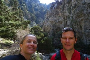 Jude and Jon in Imbros Gorge