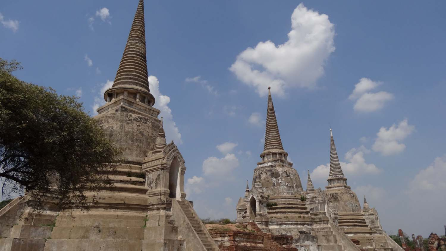 the three stupas