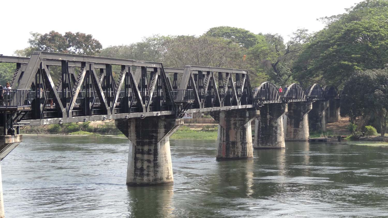 the famous bridge over the River Kwai