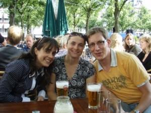 Andrea, Jude and Maarten on the Plein