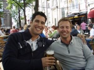 Jeroen and Mark on the Plein