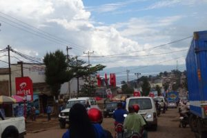 just as busy in Bukavu, the only difference is they drive on the right-hand side of the road