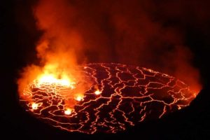 the diameter of the lava lake on Nyiragongo is approximately 200m, often the largest in the world