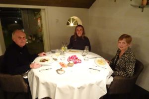 enjoying dinner at 2-michelin star restaurant 'De Groene Lantaarn'