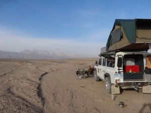 If possible we would camp in the middle of nowhere like here in Iran, on our way to Persepolis.