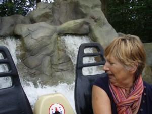grandma (mum) scared of the water...