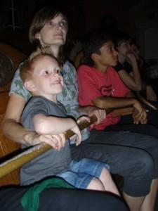 Niels was a bit scared in Villa Volta