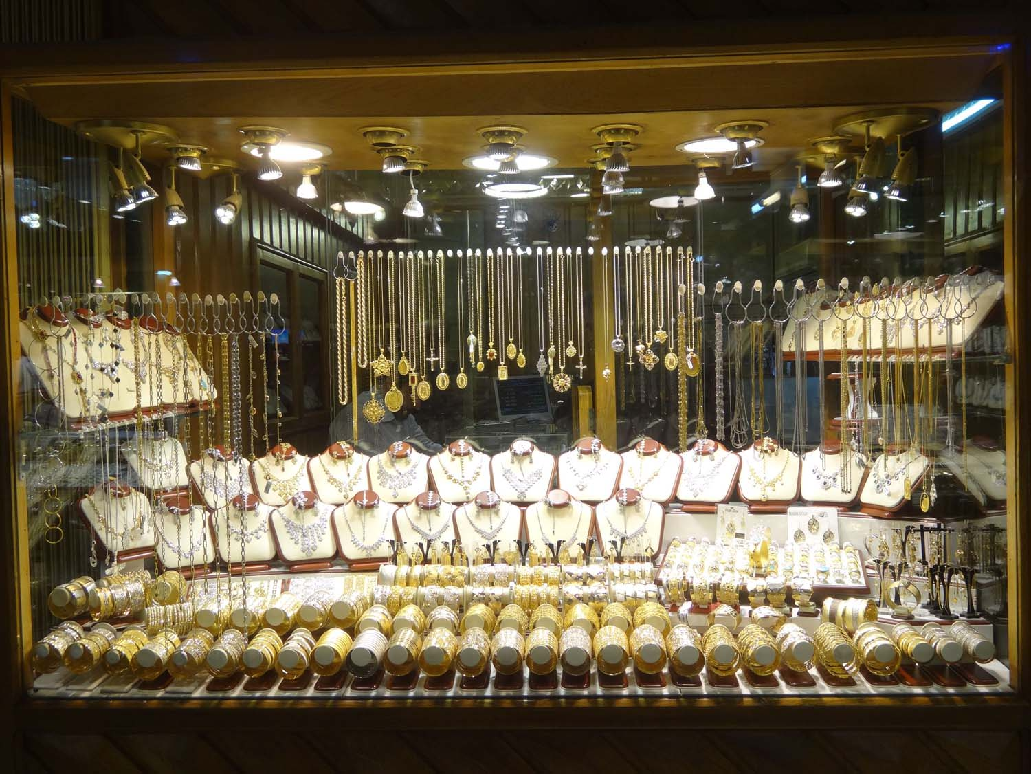some gold, this was just one of many gold shops