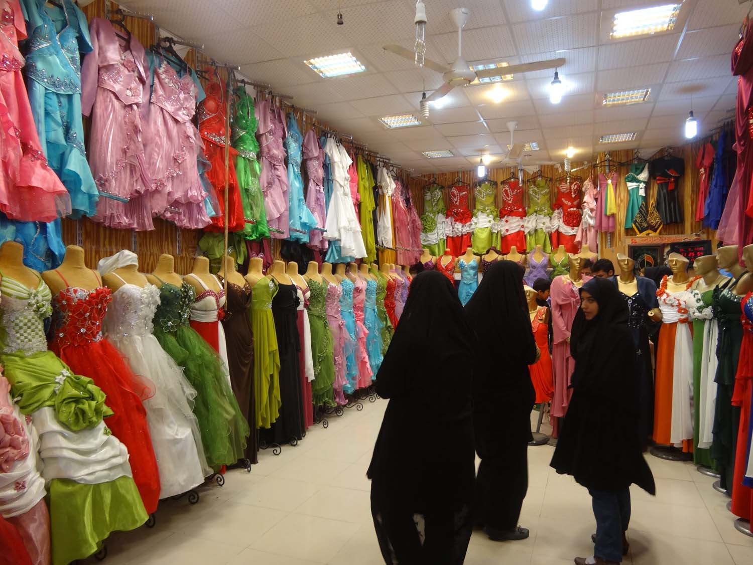 chador or sexy, colourfull dress?