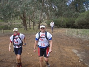 finishing the trekking leg