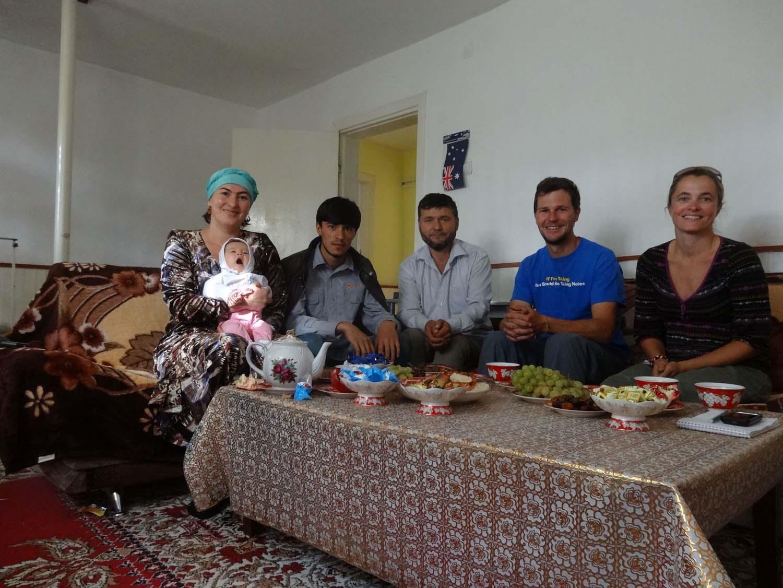 Munavara with their 2 month-old daughter, Rifat, Rashid, Jon and Jude