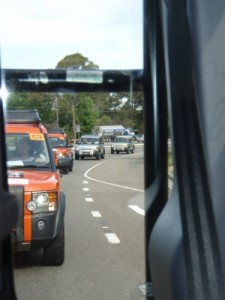 driving in convoy