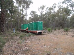 the toilets arrive