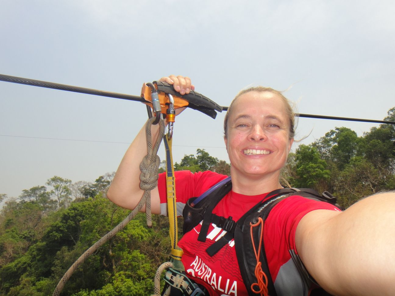 sooo much fun!! and yes, that is another zipline in the background!