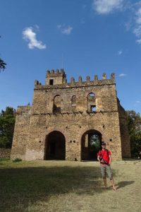 Jon in the Fasil Ghebbi - Royal Enclosure in Gondar