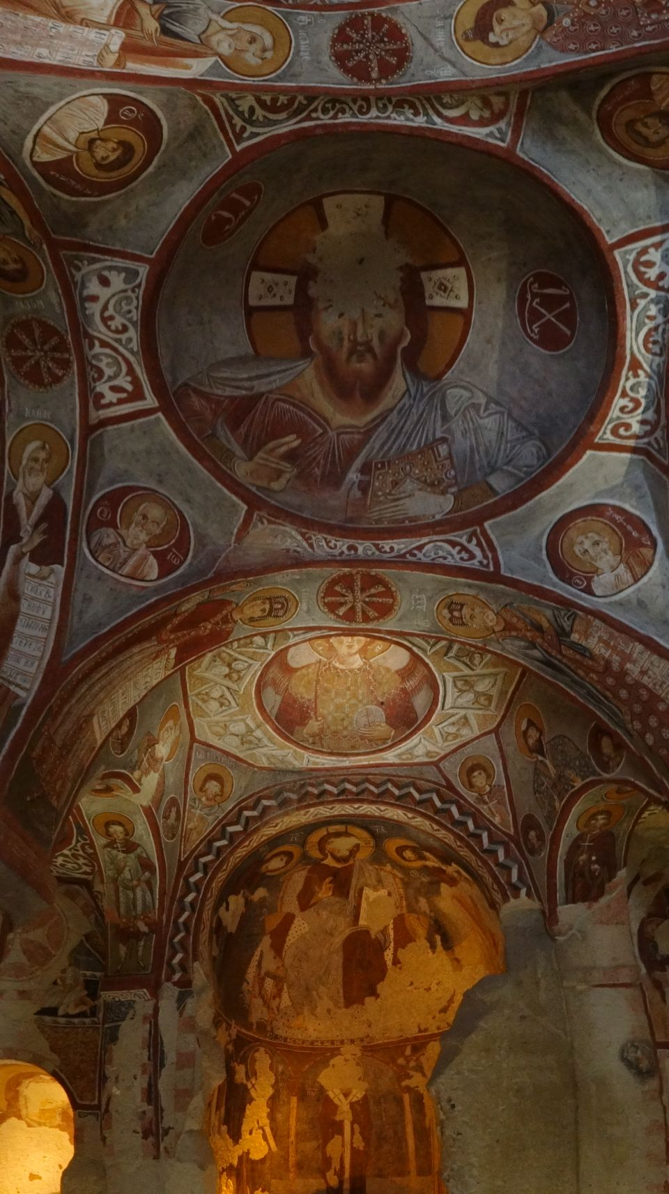 beautiful paintings in one of the churches in Goreme