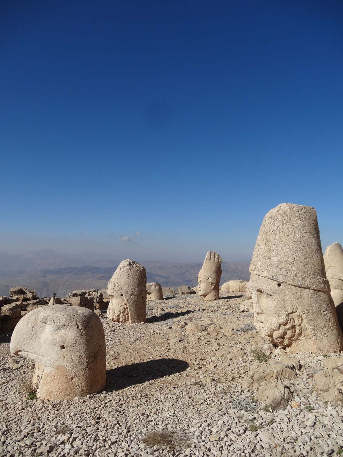 the famous heads of Nemrut Dagi