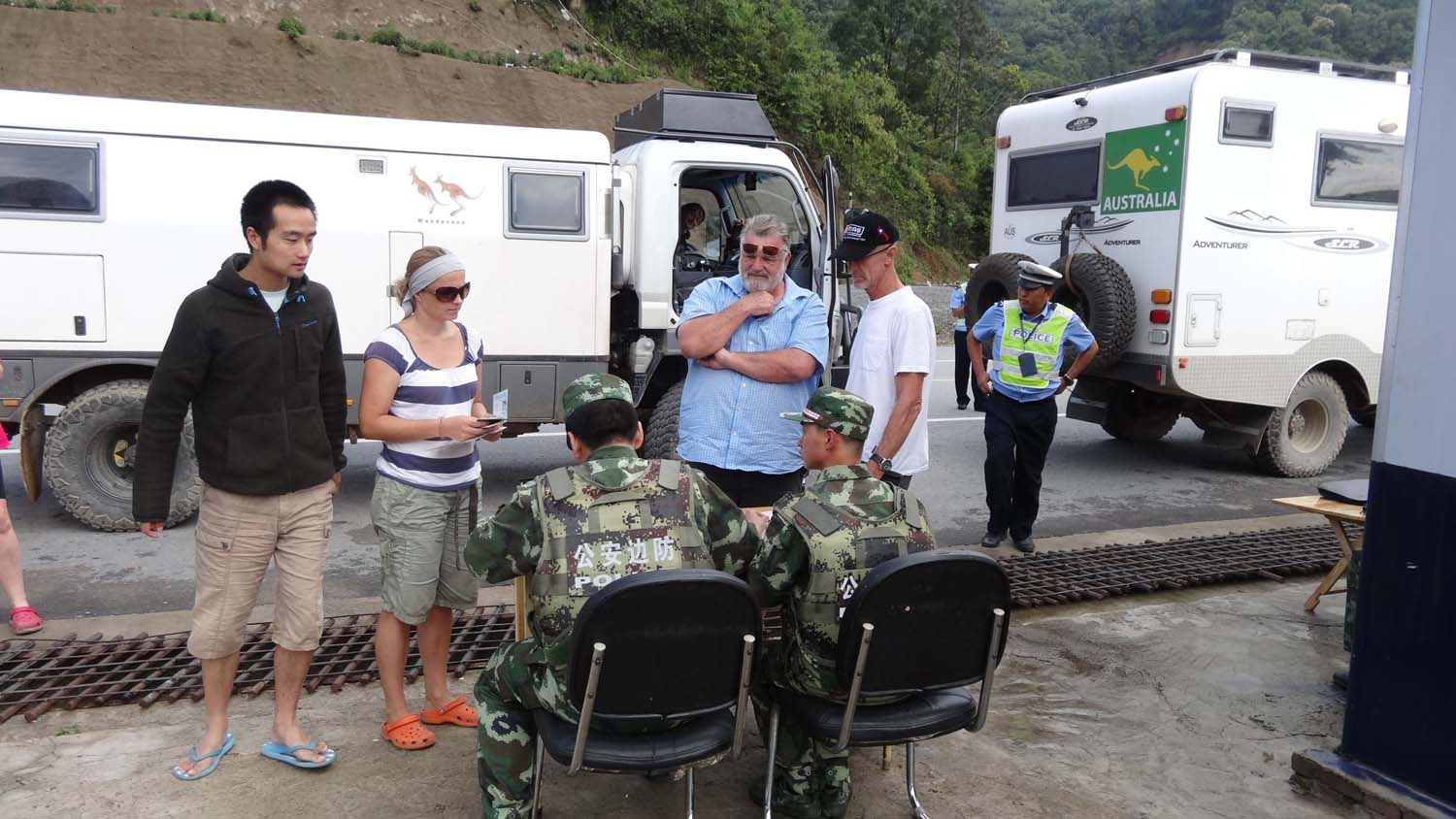 Another police check, our guide just added more confusion. He seems to get very nervous when any official is around.