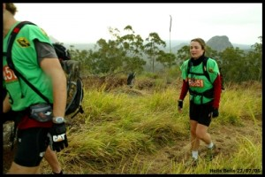 getting to the top of Mt Beerburrum