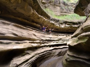 Niels & Jens exploring the gorge in Hell's Gate National Park