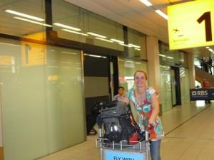 arriving at Schiphol