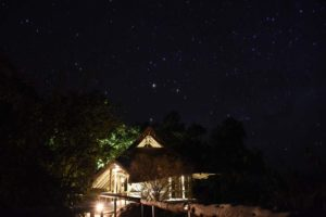 our 'tent' - not 5 stars but a billion stars