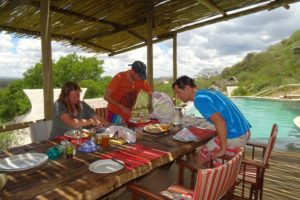 lunch by the pool, prepared and brought up by the great staff