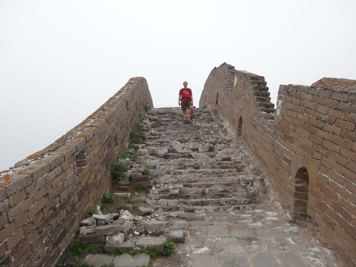 The sections at Jinshanling are not restored.