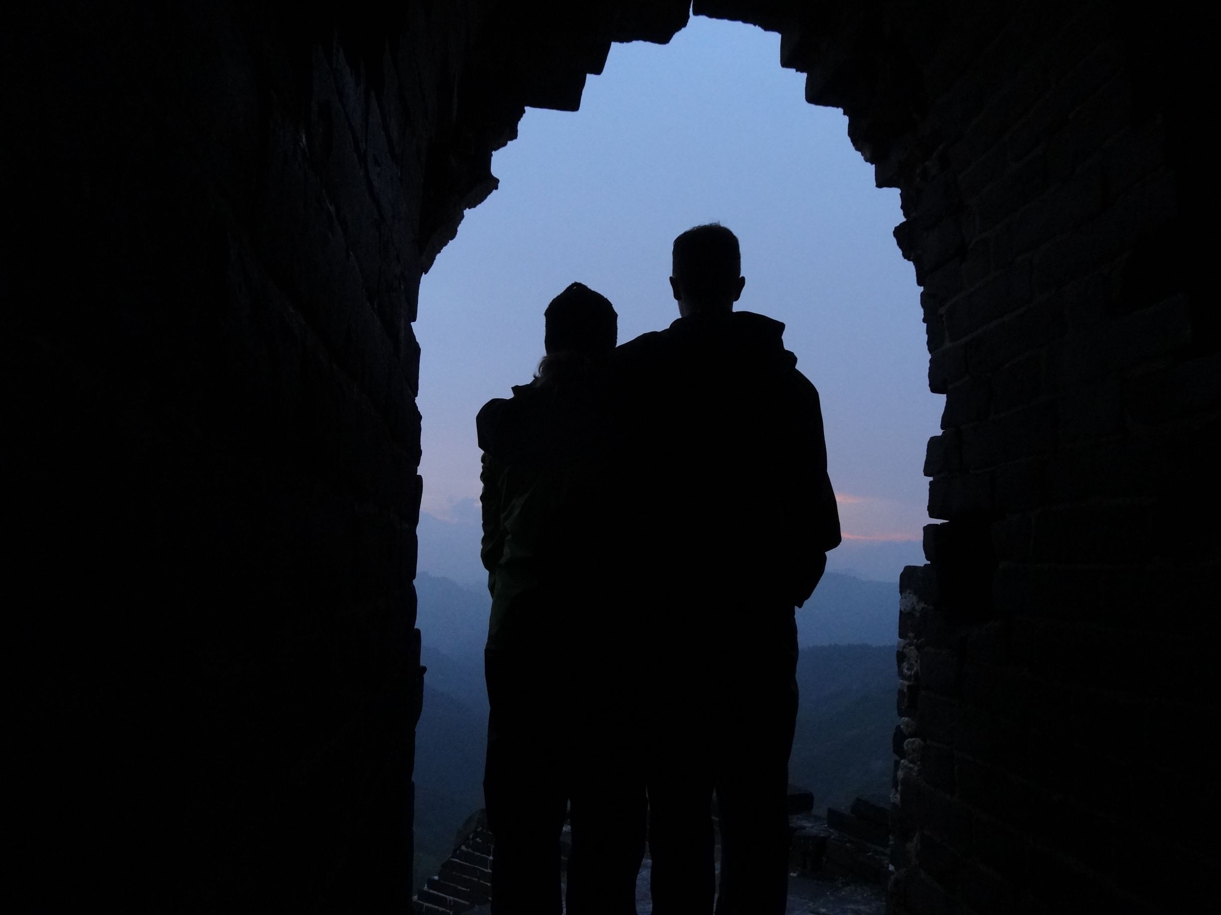 A beautiful sunset on the Great Wall, seen from 'our' tower.