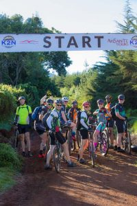 at the start line of the K2N mtb ride - Kilimanjaro to Ngorongoro