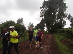 another run with the Swaras, this one in Karatina with Nick and Anna