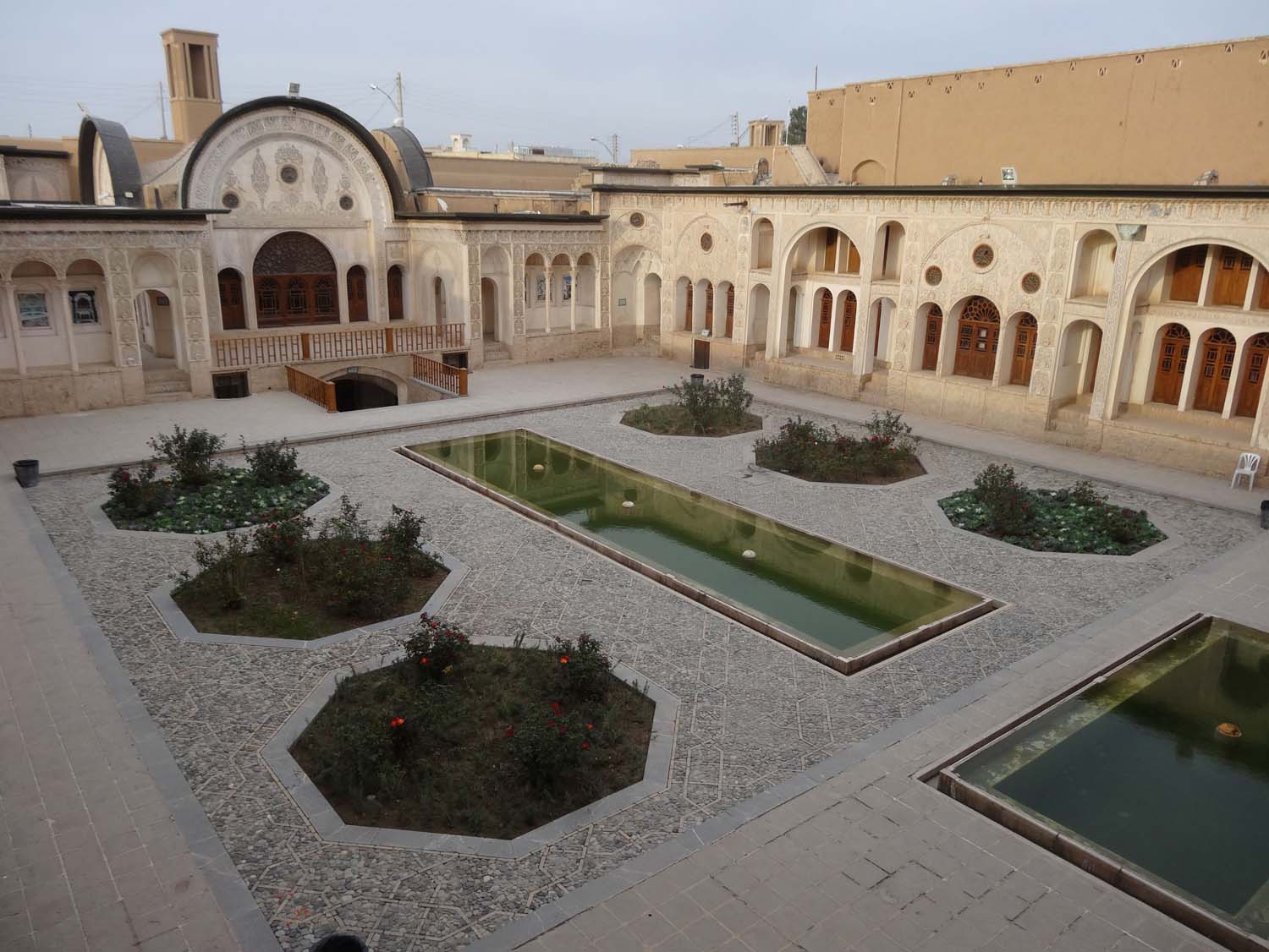 one of the beautiful traditional courtyard houses in Kashan
