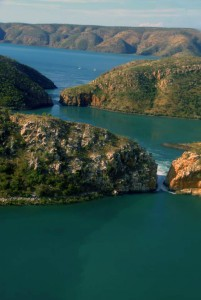 areal view of the Horizontal Falls