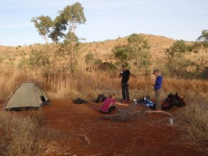 camping next to Lennard Gorge