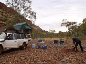 camping in Wittenoom Gorge