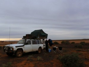 last camp site on our way back to Perth