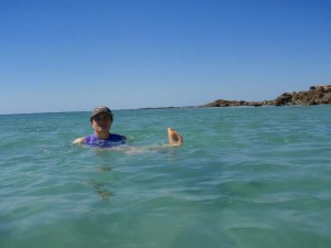 swimming off Cape Leveque