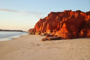 red, white and blue of Cape Leveque