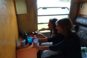 pouring of the wine in the train to Dodoma