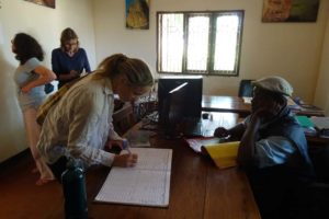 registering and paying of the visitor's fees