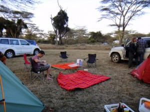 our campsite at Lewa Conservancy