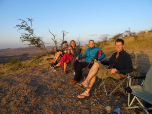 sundowners at a magnificent viewpoint in the Lewa Conservancy