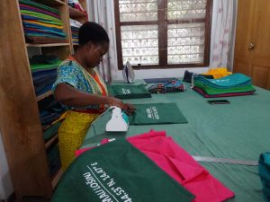 after printing, every piece of canvas is ironed by hand