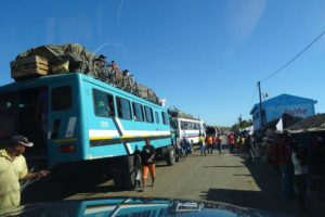 these serious 4wd busses are needed to ferry people to the east of the island