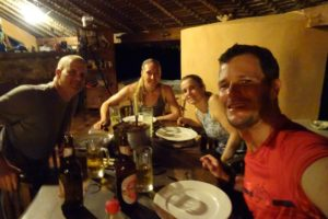 a delicious homecooked meal by Leah in the doughnut (aka their home on Nosy Komba)