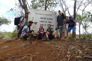 Nambinina, Goffy, Jude, Jon, Chris and Leah after a great day of hiking through Ankarana NP