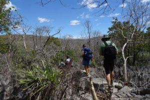 Nambinina, Goffy, Leah and Jon on the walk they created through the tsingy