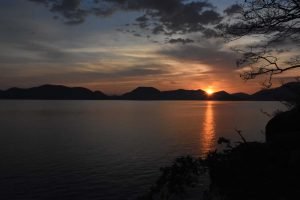 sunset over beautiful Lake Malawi